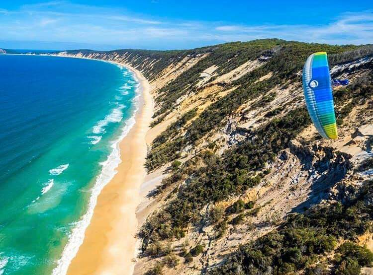 Rainbow Sands with Paraglider